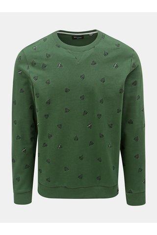 Tmavě zelená vzorovaná mikina ONLY & SONS Opus