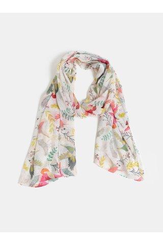 Růžovo-krémový šátek s motivem Pieces Sanny