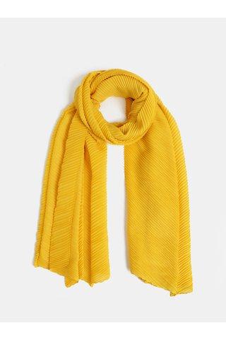Žlutý plisovaný šátek Pieces Lamilla