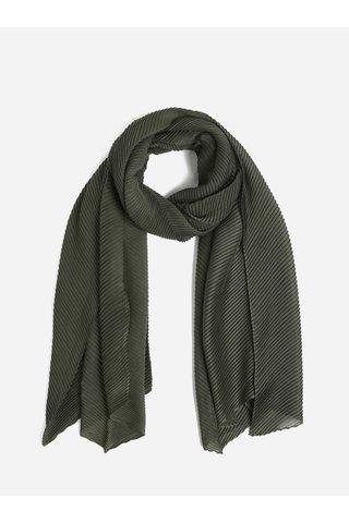 Tmavě zelený plisovaný šátek Pieces Lamilla