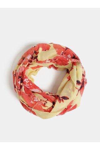 Červeno-žlutý květovaný šátek Pieces Betty