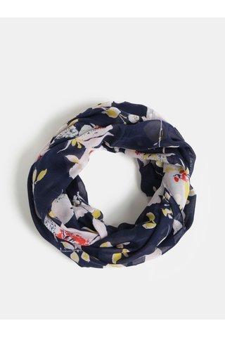 Růžovo-modrý květovaný šátek Pieces Betty