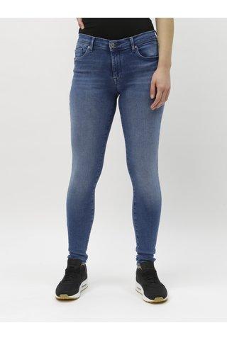 Modré push up skinny fit džíny ONLY Shape