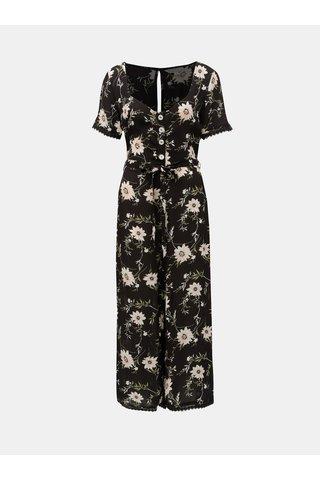 Černý květovaný overal Miss Selfridge