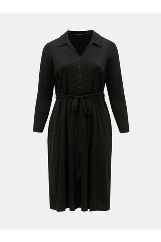Černé košilové midišaty Dorothy Perkins Curve