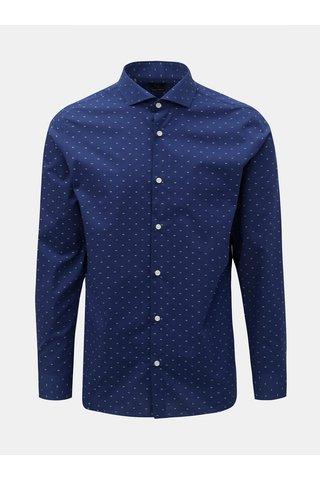 Tmavě modrá vzorovaná formální slim fit košile Selected Homme Sel-Walker