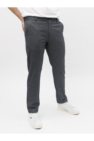 Tmavě modré žíhané chino kalhoty Selected Homme Arval