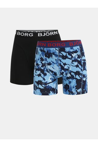 Sada dvou boxerek v černé a modré barvě Björn Borg