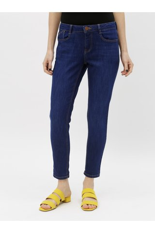 Tmavě modré skinny fit džíny Dorothy Perkins Petite Harper