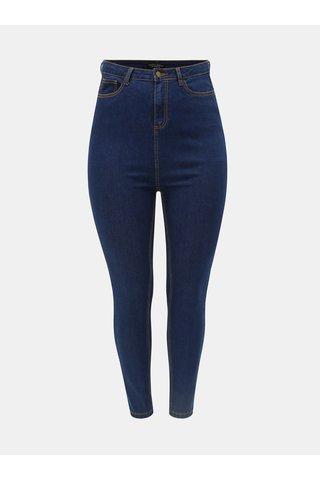 Tmavě modré slim fit džíny s vysokým pasem Dorothy Perkins Curve