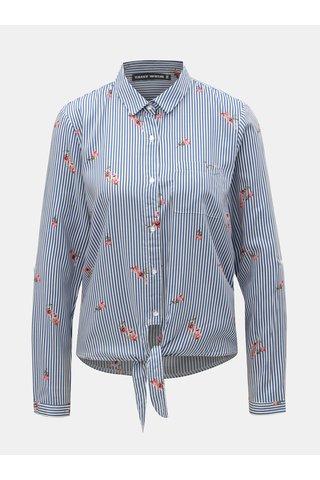 Bílo-modrá pruhovaná košile s uzlem TALLY WEiJL Viforu