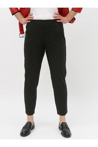 Černé zkrácené kalhoty vysokým pasem TALLY WEiJL Joaine