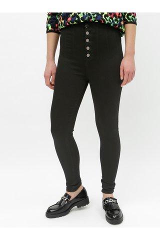 Černé skinny kalhoty s vysokým pasem TALLY WEiJL Sever