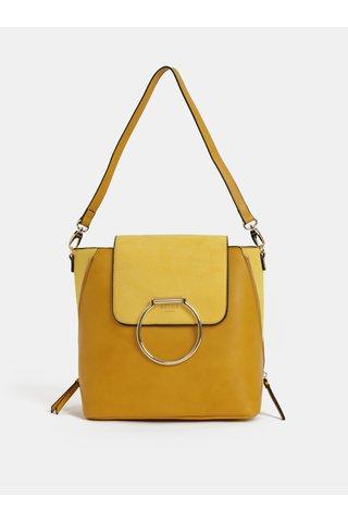 Hořčicová kabelka/batoh Bessie London