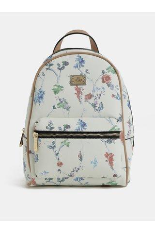 Krémový květovaný batoh Bessie London