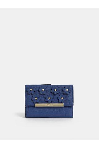 Modrá peněženka s ozdobnými detaily Bessie London