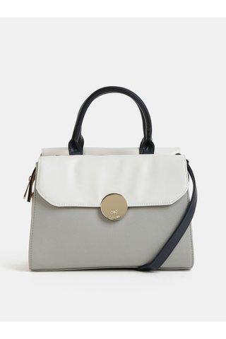 Krémovo-šedá kabelka Bessie London
