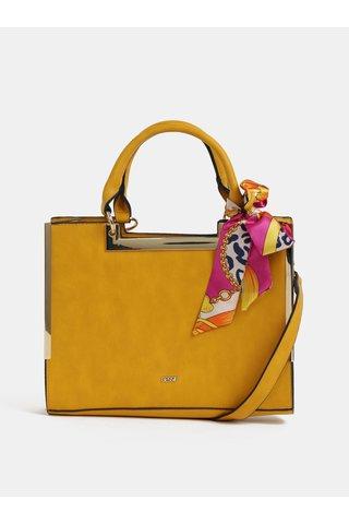 Hořčicová kabelka s šátkem Bessie London
