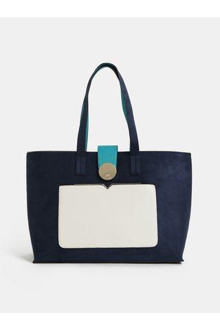 Tmavě modrá kabelka v semišové úpravě Bessie London