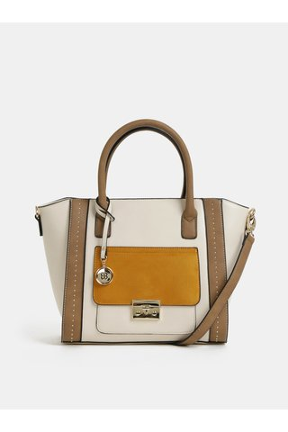 Hořčicovo-krémová kabelka Bessie London
