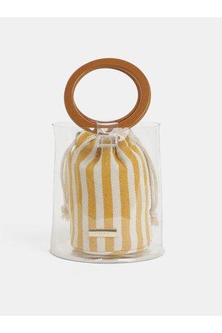 Transparentní vaková kabelka 2v1 Bessie London