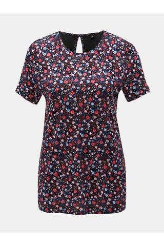 Růžovo-modré květované tričko ONLY Nyla