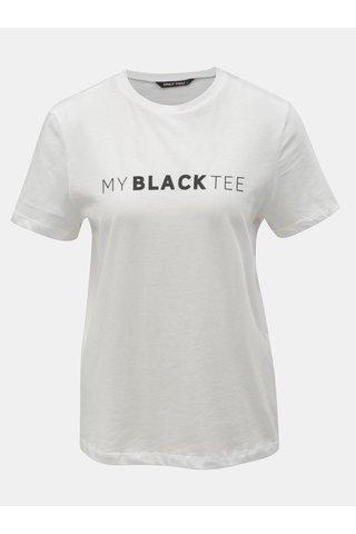 Bílé tričko s potiskem ONLY Charlie