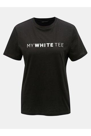 Černé tričko s potiskem ONLY Charlie