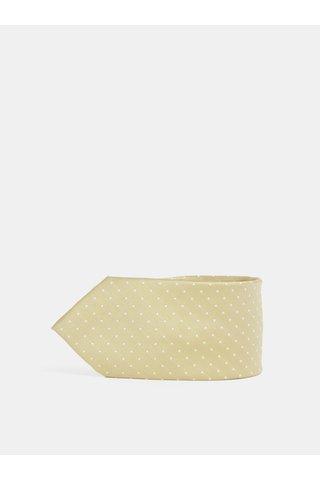 Puntíkovaná kravata ve zlaté barvě Jack & Jones Roth