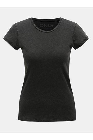 Tmavě šedé basic tričko ONLY Cate