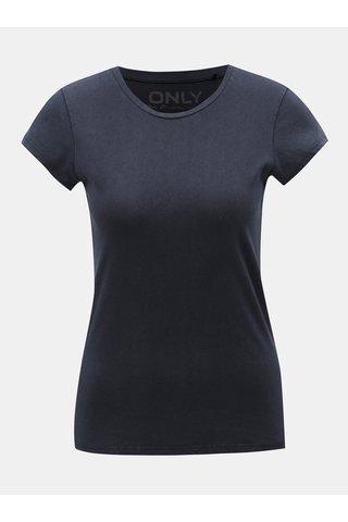 Tmavě modré basic tričko ONLY Cate