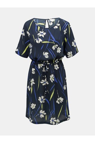 Tmavě modré květované šaty Jacqueline de Yong Innes
