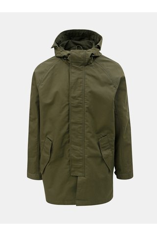 Khaki parka Burton Menswear London