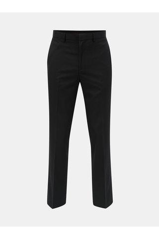 Černé pruhované regular fit kalhoty Burton Menswear London