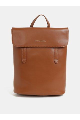 Hnědý kožený batoh Smith & Canova Miza