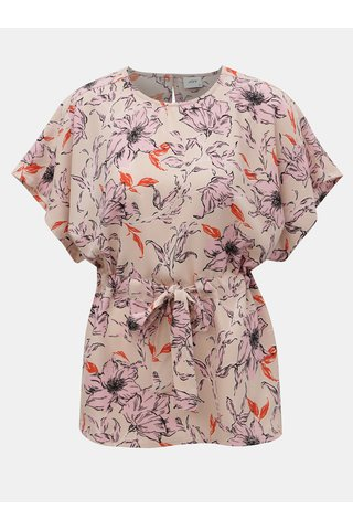 Světle růžová květovaná halenka se zavazováním Jacqueline de Yong Adria