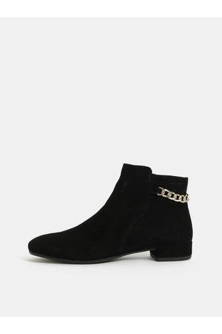 Černé dámské semišové kotníkové boty Vagabond Suzan