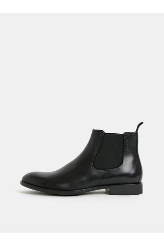 Černé pánské kožené chelsea boty Vagabond Harvey