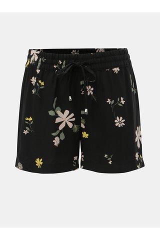 Černé květované kraťasy Jacqueline de Yong Star