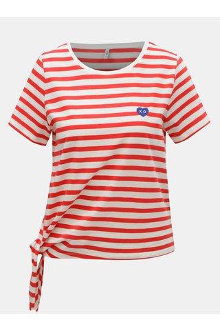 Bílo-červené pruhované tričko ONLY Brave