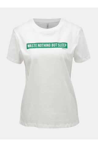 Bílé tričko s potiskem ONLY Sense