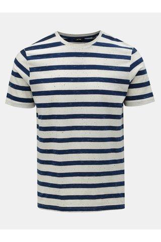 Modro-bílé pruhované tričko ONLY & SONS Elky