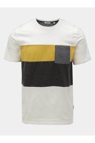 Bílé tričko s náprsní kapsou ONLY & SONS Erik