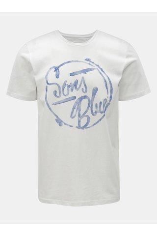 Bílé tričko s potiskem ONLY & SONS Lounge
