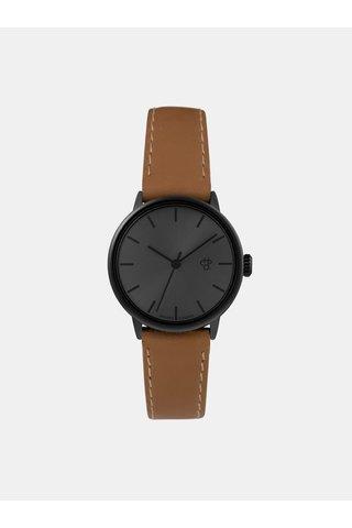 Dámské hodinky s hnědým páskem z veganské kůže CHPO Khorshid mini