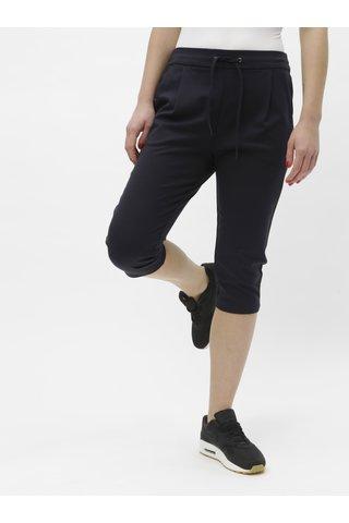 Tmavě modré 3/4 kalhoty VERO MODA Eva