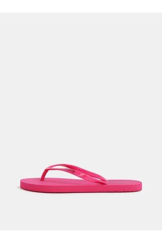 Tmavě růžové dámské žabky Calvin Klein Underwear