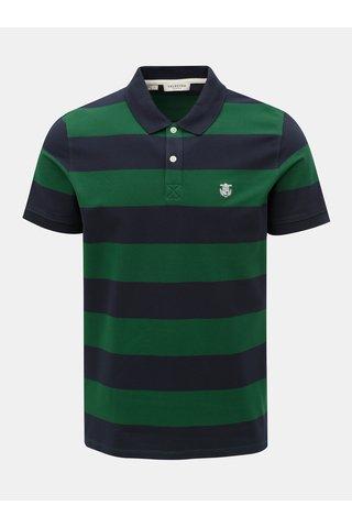 Zeleno-modré pruhované polo tričko Selected Homme Haro