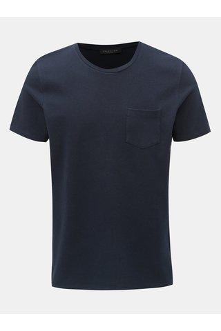 Tmavě modré tričko s kapsou Selected Homme Wave