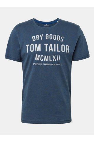 Modré pánské tričko s potiskem Tom Tailor